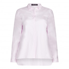 BEIGE label pale pink classic SHIRT - Plus Size Collection