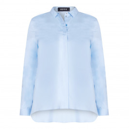 BEIGE label pale blue classic SHIRT - Plus Size Collection