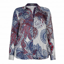 BEIGE label paisley print SHIRT - Plus Size Collection