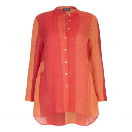 BEIGE LABEL NEHRU COLLAR SHIRT - Plus Size Collection