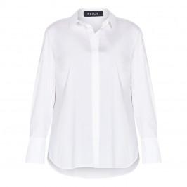 BEIGE LABEL COTTON BLEND SHIRT WHITE - Plus Size Collection