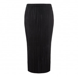 BEIGE label black tiny pleat SKIRT - Plus Size Collection