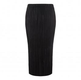 BEIGE label black tiny pleat SKIRT - Plus Size Collection