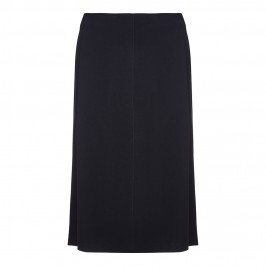 BEIGE RELAXED FIT SKIRT IN BLACK - Plus Size Collection