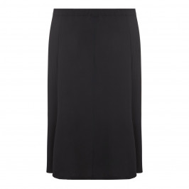 BEIGE label black fluid jersey gently flared SKIRT - Plus Size Collection