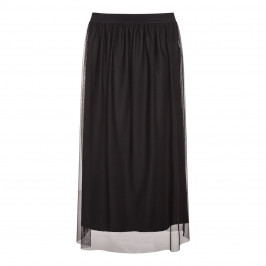 BEIGE label black net layer SKIRT - Plus Size Collection