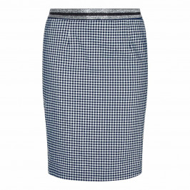BEIGE LABEL GINGHAM PENCIL SKIRT WITH LUREX WAISTBAND - Plus Size Collection