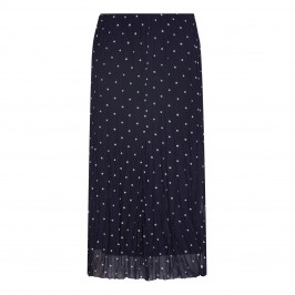 BEIGE label navy polka dot crinkle chiffon SKIRT - Plus Size Collection