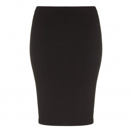 YOEK black silky jersey pencil SKIRT - Plus Size Collection