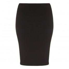 YOEK black silky jersey pencil SKIRT - Plus Size Collection