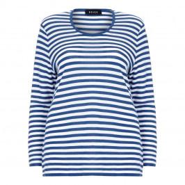 BEIGE indigo and white stripe SWEATER - Plus Size Collection