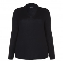 BEIGE v-neck wool SWEATER in black - Plus Size Collection