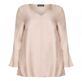 BEIGE LABEL V NECK BELL CUFF TUNIC - Plus Size Collection