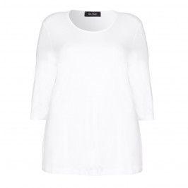 BEIGE label white jersey TOP - Plus Size Collection