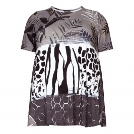 BEIGE LABEL ABSTRACT PRINT TOP - Plus Size Collection