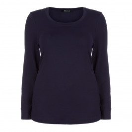BEIGE LABEL NAVY ROUND NECK TOP - Plus Size Collection