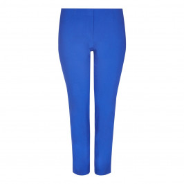 BEIGE label royal blue technostretch TROUSERS - Plus Size Collection