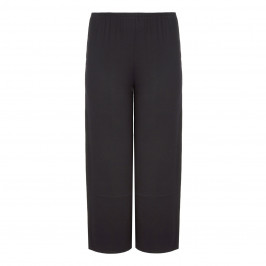 BEIGE LABEL BLACK WIDE LEG JERSEY PULL ON TROUSERS - Plus Size Collection