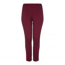 BEIGE LABEL BURGUNDY LEGGINGS - Plus Size Collection