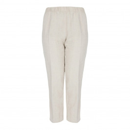 BEIGE LABEL FULL LENGTH PULL ON ELASTICATED WAIST TROUSER - Plus Size Collection