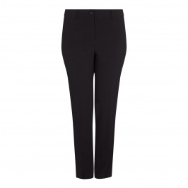 BEIGE PLUS BLACK TAILORED TROUSERS - Plus Size Collection