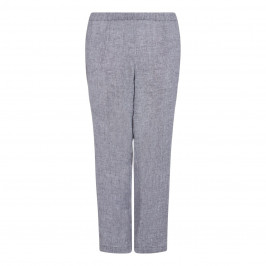 BEIGE LABEL GREY LINEN TROUSERS  - Plus Size Collection
