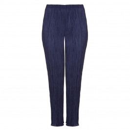 BEIGE LABEL NAVY CRYSTAL PLEATED JERSEY PULL ON TROUSERS  - Plus Size Collection