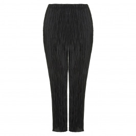 BEIGE LABEL BLACK CRYSTAL PLEATED JERSEY PULL ON TROUSERS  - Plus Size Collection