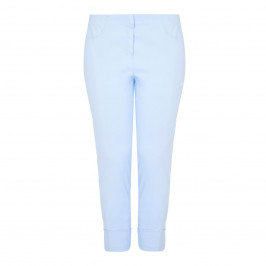 BEIGE label pale blue cropped Trousers - Plus Size Collection
