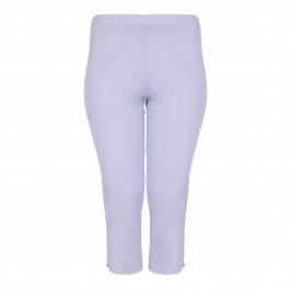 BEIGE LABEL CROPPED PULL ON LILAC TROUSER - Plus Size Collection