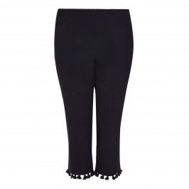 BEIGE label black cropped tasselled TROUSERS - Plus Size Collection