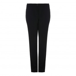 BEIGE label black crepe cady TROUSERS - Plus Size Collection
