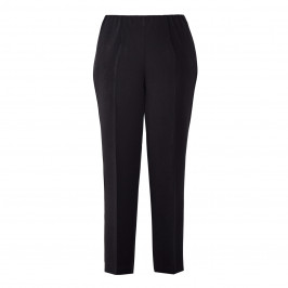 BEIGE SMART PULL-ON TROUSER BLACK - Plus Size Collection