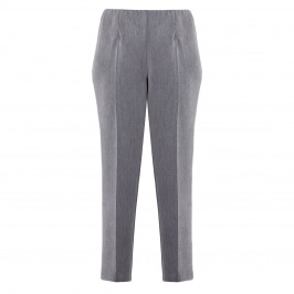 BEIGE SMART PULL-ON TROUSER GREY - Plus Size Collection