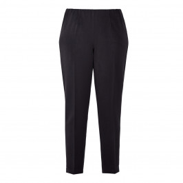 BEIGE PULL ON TROUSER FRONT CREASE BLACK - Plus Size Collection