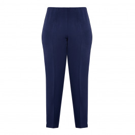 BEIGE PULL ON TROUSER FRONT CREASE NAVY - Plus Size Collection