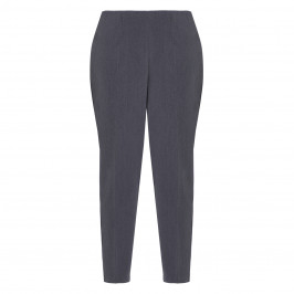 BEIGE PULL ON TROUSER GREY MELANGE  - Plus Size Collection