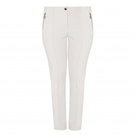 FABER STRETCH TROUSER VANILLA  - Plus Size Collection