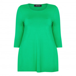 BEIGE LABEL GREEN ROUND NECK TUNIC - Plus Size Collection