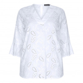 BEIGE LABEL EMBROIDERED TUNIC - Plus Size Collection