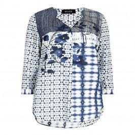 BEIGE label navy batik print Tunic - Plus Size Collection