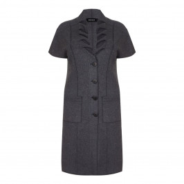 BEIGE label charcoal wool WAISTCOAT - Plus Size Collection