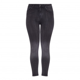 BEIGE LABEL CHARCOAL FADED SKINNY JEANS - Plus Size Collection