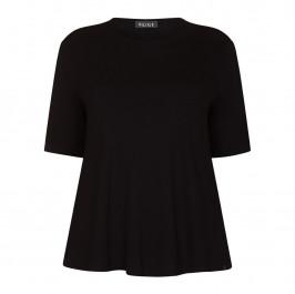 BEIGE LABEL SCOOP NECK T-SHIRT BLACK - Plus Size Collection