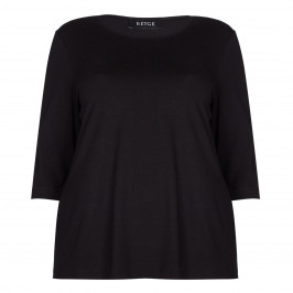 BEIGE label black jersey TOP - Plus Size Collection