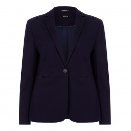 Beige label navy punto milano JACKET - Plus Size Collection