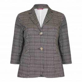 Marina Rinaldi brown print stretch JACKET - Plus Size Collection