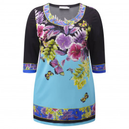 MORETTI PRINT JERSEY TUNIC - Plus Size Collection