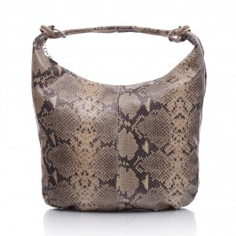 C.L taupe mock python BAG - Plus Size Collection