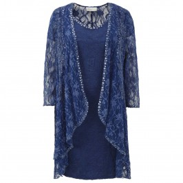 Ann Balon royal blue lace dress & coat - Plus Size Collection